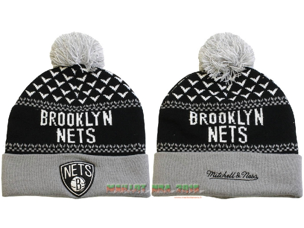 Tricoter un Bonnet 2017 Brooklyn Nets Gris NO.09
