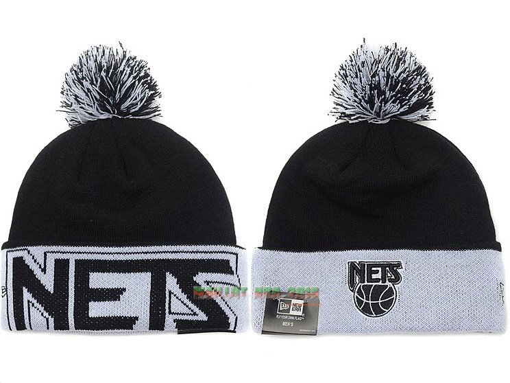Tricoter un Bonnet 2017 Brooklyn Nets Noir